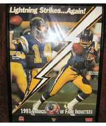 San Diego Chargers Patch & Poster Dan Fouts 25th Anniversary - $55.00