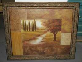 Vivian Flasch 20x24 Carved Wooden FRAMED Art Print - $50.00
