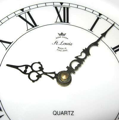 St. Louis Bone China Kienzle Quartz Plate Clock England