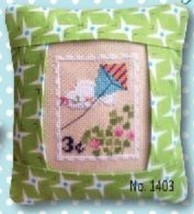 March 3 cent Special Delivery Postage Stamp pillow cross stitch kit Pine Mtn  - $16.20
