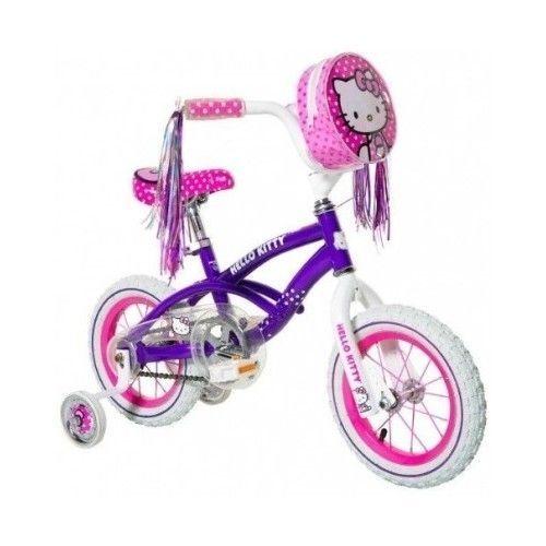 Hello Kitty Girl's Bike Purple,12inch Pink Training Wheel pretty - $116.81