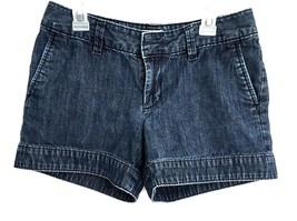 Gap Women's 0 Shorts Jean Denim Chambray Blue Clean Hems Flap Pockets Da... - $10.99