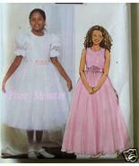 Butterick Pattern 4441 Girls Formal Dress 7-8-10 NEW - $2.99