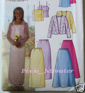 Butterick Pattern 3718 Girls Dress 7 to 16 Plus Size