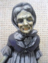 Vintage Old Woman Figurine, 9 1/2