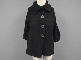 VINCE Black Wool Blend Casual Knit Button Down Cardigan Sweater Size M 8... - $740,84 MXN