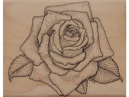 Mostly Animals Rose Cap Wood Mounted Rubber Stamp #612-55