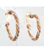 Avon Copper, Silver-tone & Gold-tone Woven Wire... - $12.95