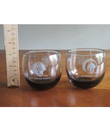 Lot 2x Los Angeles Rams + New England Patriots NFL Glass Smoked Roly Pol... - $14.99