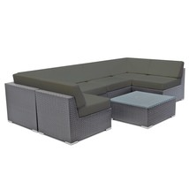 Sectional Wicker Sofa Set Aluminum Outdoor Furniture Patio Rattan Couch ... - $1,185.00