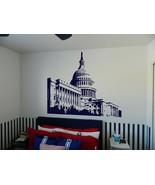 "Capitol Building Washington DC Senate Vinyl Wall Sticker Decal 44""h x 60""w - $59.99"