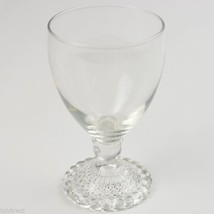 """Anchor Hocking Glass Bubble Foot Clear Water Goblet 5.375"""" T Glassware V... - $8.99"""