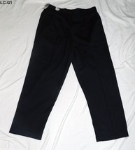 Liz Claiborne Black Plus 1X Size 38 x 30 Pleated Cuffed Pants Slacks NWT - $18.99
