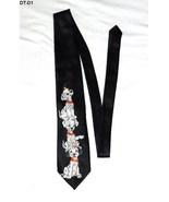 DISNEY 101 Dalmatians Print Black Mens Necktie  - $9.99