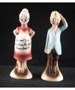 Pregnant Grandma and Confused Grandpa Salt Pepper Shakers - $12.99