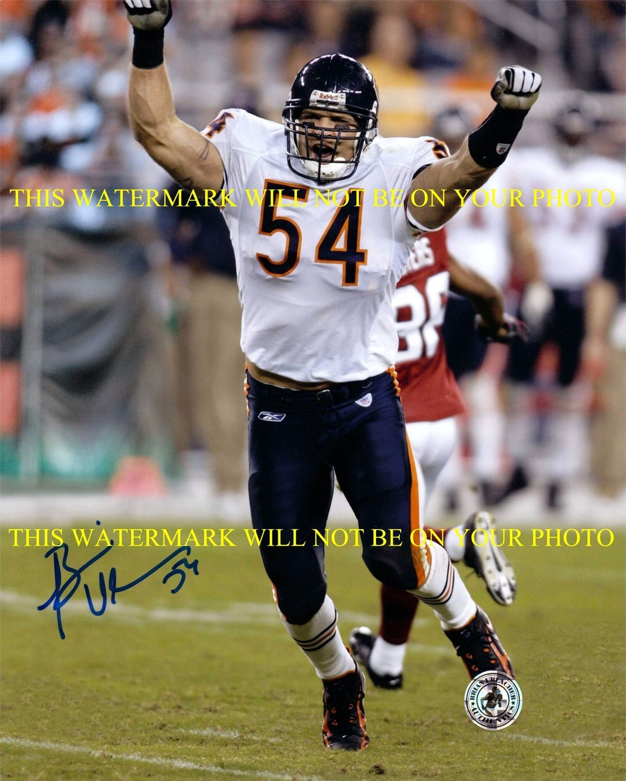 Primary image for BRIAN URLACHER SIGNED AUTOGRAPHED AUTO 8x10 RP PHOTO CHICAGO BEARS