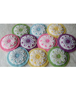 Flower Wool Felt Handmade Needlebook assorted c... - $12.00