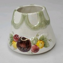 Yankee Candle Small Jar Shade  w/ Swag Drape and Fruit Iridescent Finish - $9.75