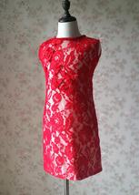 Pageant Red Lace Tutu High Waist Flower Girl Dress 2-Way Girl Birthday Dress NWT image 14