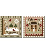 January-February Sampler Months Threadpack Little House - Classic Colorworks  - $17.10