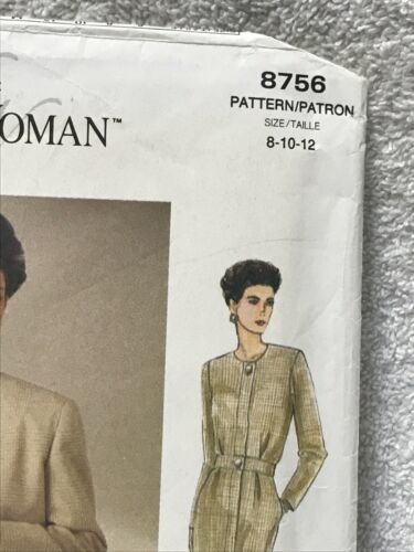 The Vogue Woman 8756 Misses Miss Petite Jacket Dress Sewing Pattern image 2