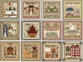 FULL BUNDLE January-December Sampler Month Thread Pack Little House Needleworks  - $96.90