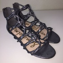 Sam Edelman Daryn High Back Gladiator Sandal Women's Size 8.5 M Pewter G... - $49.45