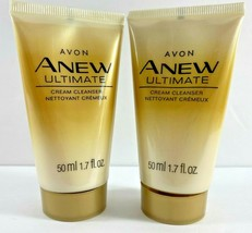 Lot of 2 Avon Anew Ultimate Cream Cleanser 1.7 fl oz ea Travel Size - $14.80