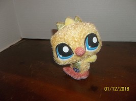 "2009 hasbro littlest pet shop yellow duck plush 6 1/2"" tall - $6.00"