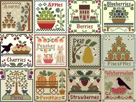 FULL BUNDLE Fruits (12 charts) Thread Packs Little House-Classic Colorworks - $142.80
