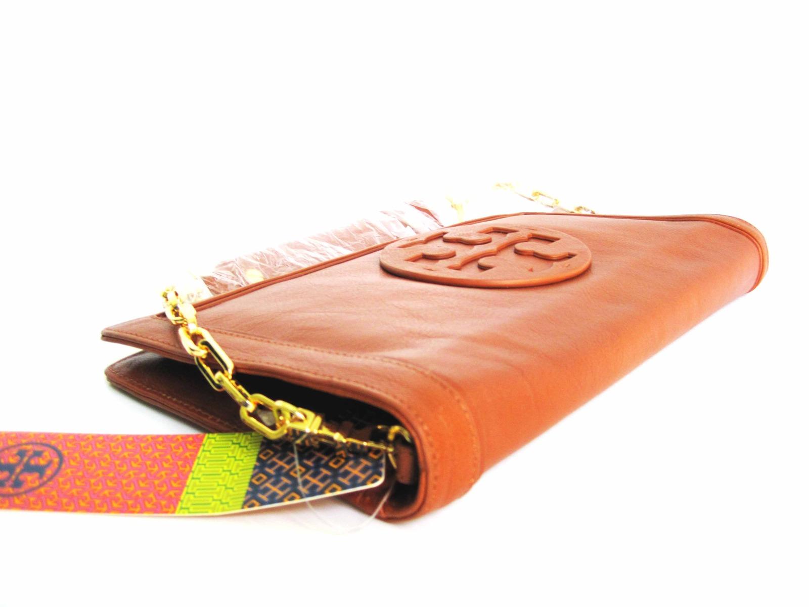 Tory Burch SUKI REVA Clutch Purse Shoulder Handbag Brown image 4