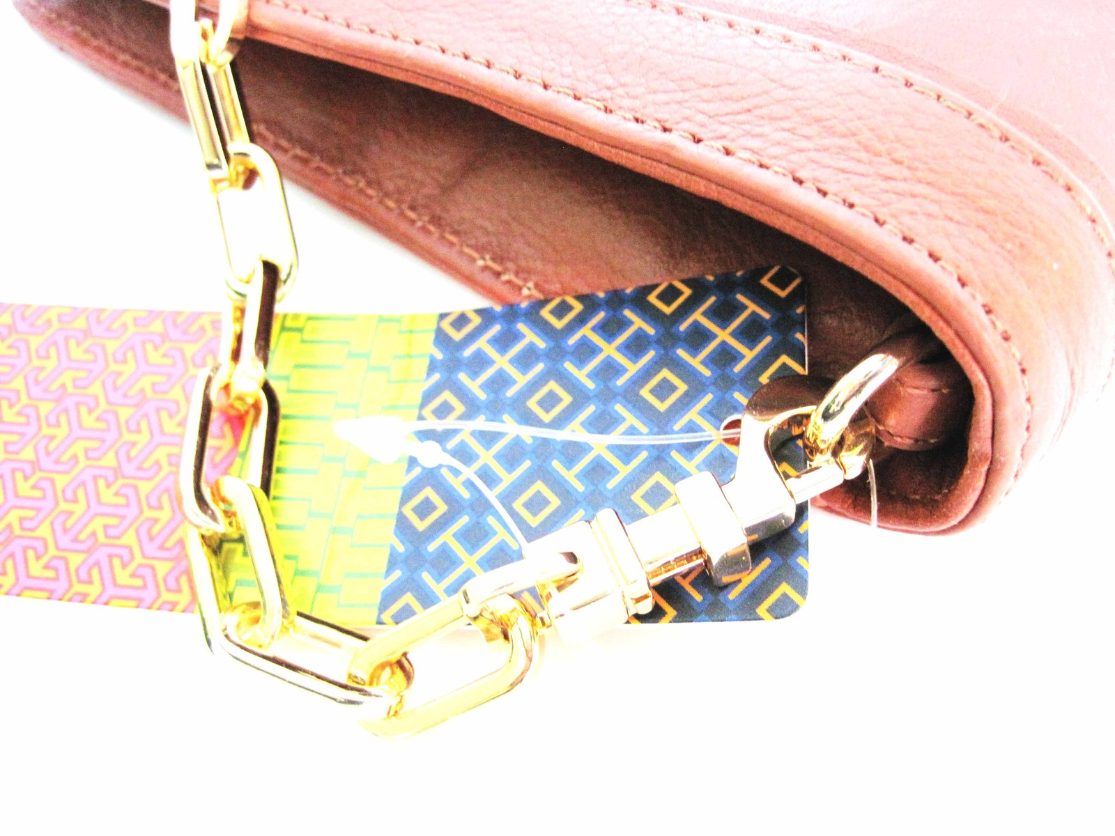 Tory Burch SUKI REVA Clutch Purse Shoulder Handbag Brown image 5