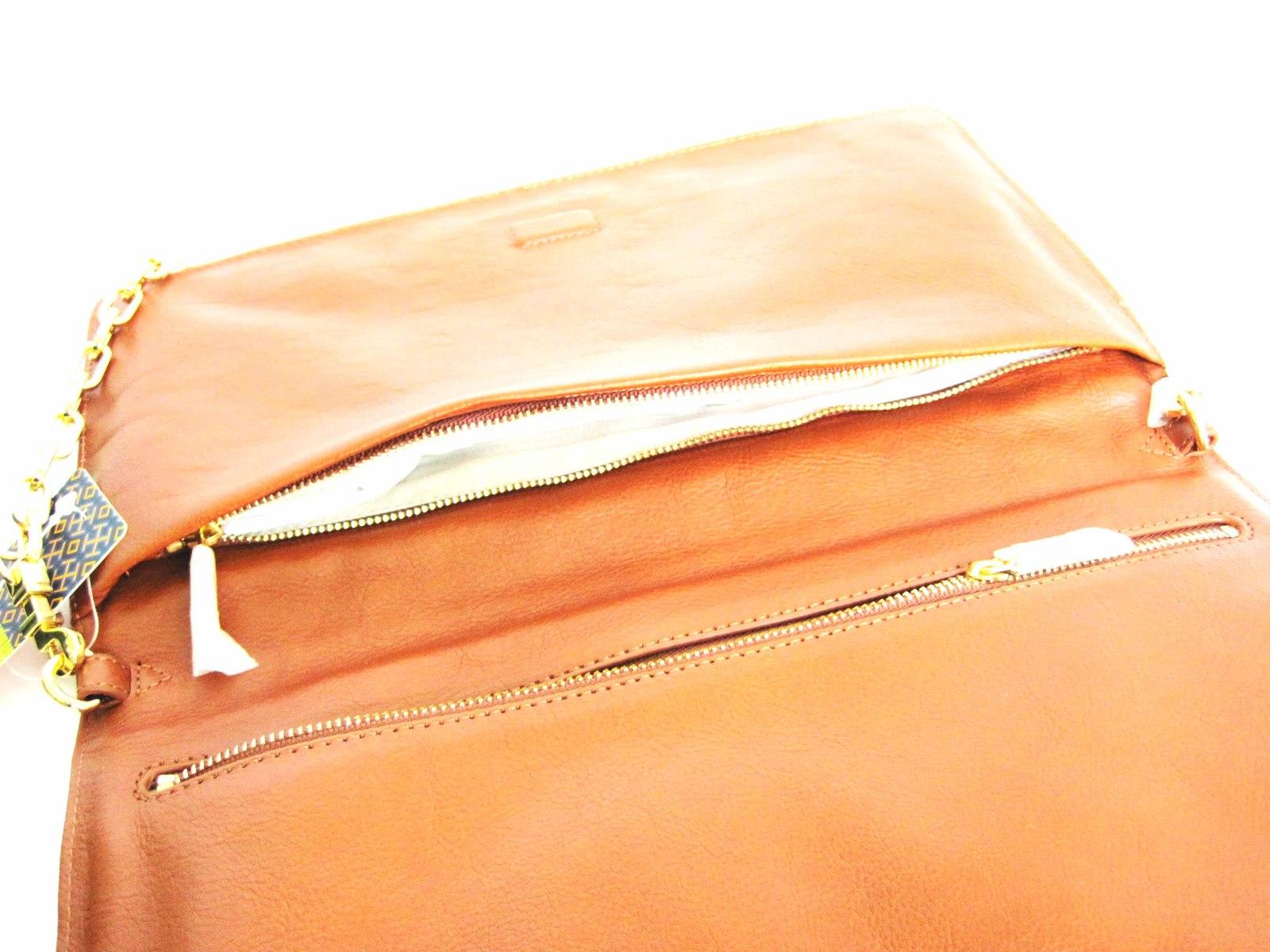 Tory Burch SUKI REVA Clutch Purse Shoulder Handbag Brown image 6