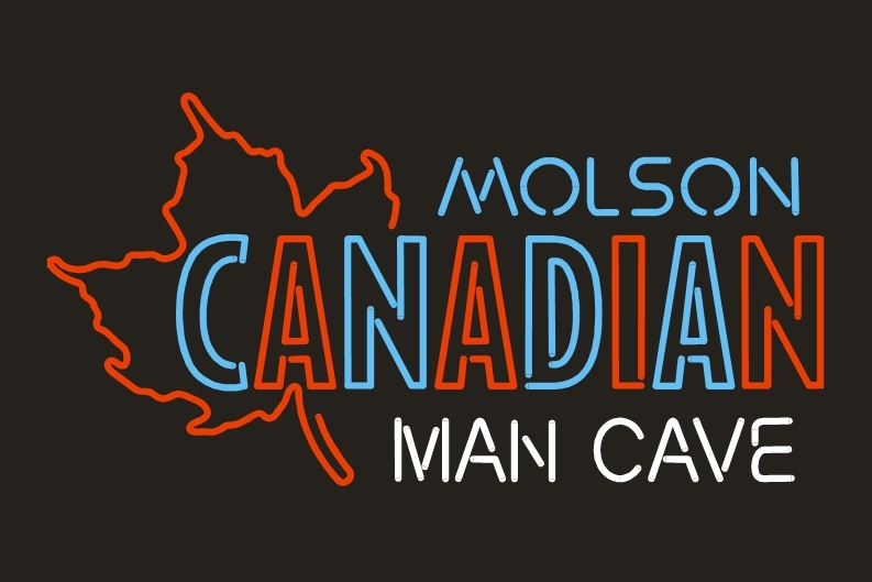 Neon Man Cave Signs Canada : Canadian molson man cave beer bar neon light sign