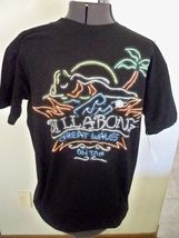 BILLABONG MEN'S BLACK TEE T-SHIRT W/ MULTI COLORED NEON SIGN ON CHEST NE... - $16.99