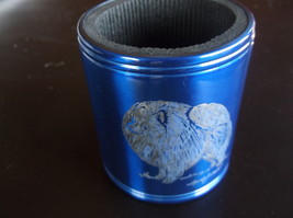 Pomeranian- Hand engraved Stainless Can  Cooler by Ingrid Jonsson - $17.00