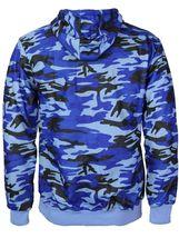Men's Cotton Blend Zip Up Drawstring Fleece Lined Sport Gym Sweater Hoodie image 15