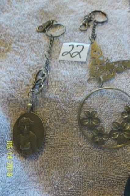 # purse jewelry bronze color keychain backpack filigree charms floral 22