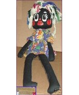Vintage LOURDES CUBA Cloth BLACK Girl Rag Doll MOP hair 36 in - $49.99