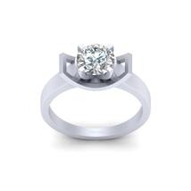 VVS-VS Clarity Excellent Round Cut 1.30ct Moissanite Solitaire Engagement Ring  - $819.99