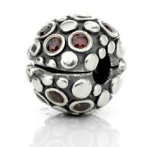 Pandora Encore Clip Sterling Silver Rose Tourmaline Cz $95 Retail, New, Sale! - $56.65