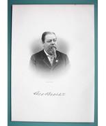 GEORGE BECHTEL Germany Born New York Beer Brewer - 1895 Portrait Antique... - $12.29