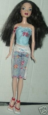 MY SCENE Barbie Doll raven hair dressed w/shoes
