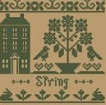 Spring Monochromatic Silk Thread Pack cross stitch LHN - Classic Colorwork - $12.60