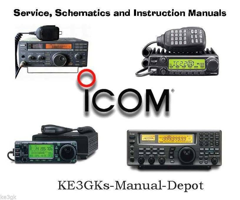 500 Icom Service and Instruction Manuals Library - DVD