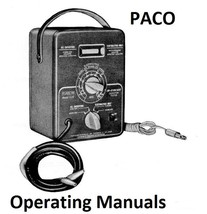 Paco Operating Manuals on CD - $7.99