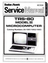 TRS-80 Model  III Service and Operation Manuals * PDF * CDROM - $9.99