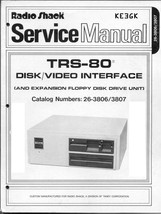 TRS-80 Disk & Video Interface Service Manual * PDF * CDROM - $9.99