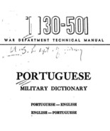 Portuguese Military Dictionary * War Department 1944 * CDROM - $7.99