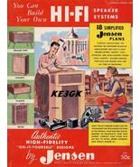 Build your own Hi-Fi Speaker System * Jensen * 1956 * PDF * CDROM - $8.99